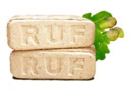 Топливный дубовый брикет RUF (РУФ) (Дуб 100%)