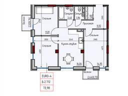 Продам трехкомнатную квартиру в новом доме.