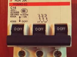 Продам трёх полюсный выключатель 16А.