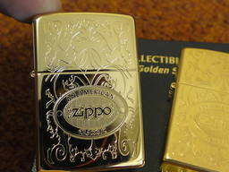 Продам Zippo 24751 American Classic 24K позолоченная