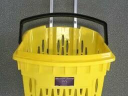 Корзинка покупательская 38 литров на колесах, телескоп ручка