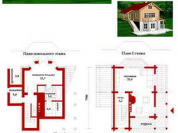 Проект дома из профилированного бруса 102, 1 м2. Проект. ..