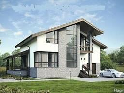 Проект двухэтажного дома Ц414