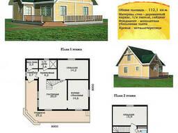 Проект каркасно-щитового дома 112, 1 м2. Проект дома. ..