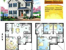 Проект каркасно-щитового дома 125 м2. Проект дома. ..