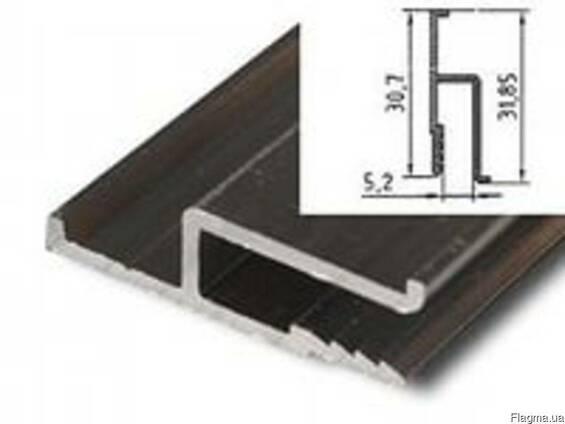 Профиль алюминиевый h образный для натяжных потолков