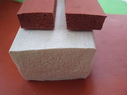 Профиль силиконовый пористый фигурный, уплотнитель силиконов