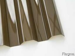 Профилированный монолитный поликарбонат 1. 05*6. 0м. бронзовый