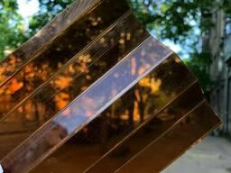 Профилированный монолитный поликарбонат янтарь