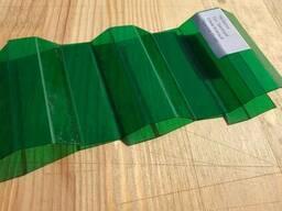 Профилированный поликарбонат зеленый