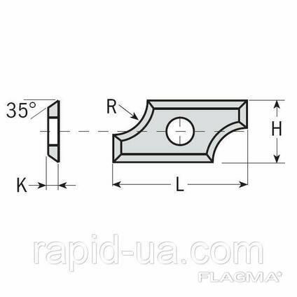 Профилированные радиусные ножи 24×12×1,5 R6,4 ммCMT Италия