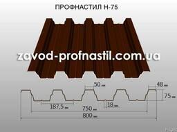 Профнастил Н-75 (кровельный, усиленный)