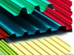 Профнастил (оцинкованный, цветной) от завода-изготовителя.