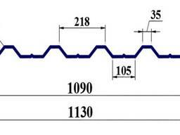 Профнастил ПК35 0, 7мм оцинк Україна
