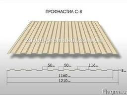 Профнастил С-8 (стеновой, облицовочный)! г. Кривой рог