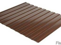 Профнастил стеновой С-10 RAL 8017 (коричневый) PE 0. 45