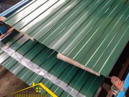 Профнастил для забора зелёного цвета Ral 6005