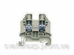 Проходные винтовые клеммы для DIN рейки 35 мм WT 10 (серый)