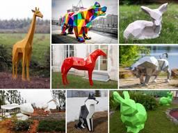 Изготовлением полигональных скульптур на заказ.