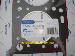 Прокладка головки блока Москвич 412, 2140, 2141, двигатель 1,5 л. , 82,0 мм, без асбеста