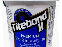 Промышленный влагостойкий клей Titebond II Premium Wood Glue для дерева D-3, 20 кг.