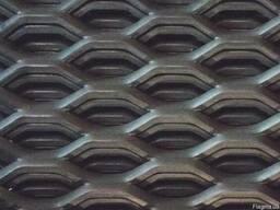 Просечно-вытяжной лист из черной стали 45/16x4x3/1000x2000