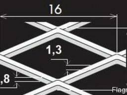 Просічно-витяжні листи TH MR16/6x1,3x0,8/1000x4400