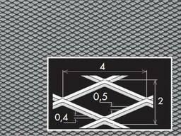 Просічно витяжний лист 4/2х0,5х0,4/1000х2000