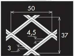 Просічно витяжний лист 50/37х4,5х3/1000х2000