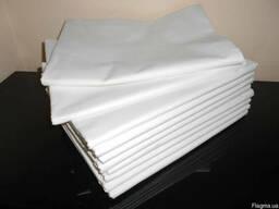 Простынь белая. бязевая,р.145 на 210, постельное белье