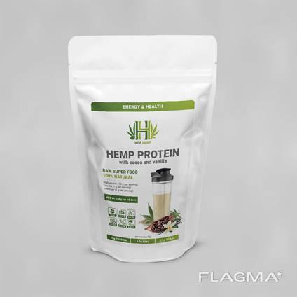 Протеин НорНеmр конопляный с натуральным какао и ванилью, 250 г.