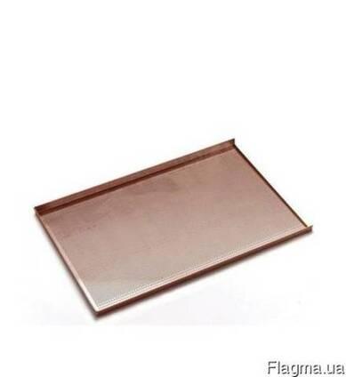 Противень для выпечки -с трёхсторонней обортовкой, алюминий