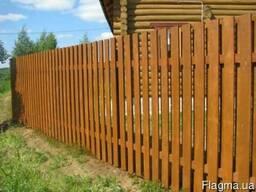 Проветриваемые деревянные заборы.