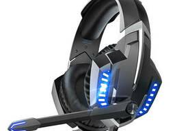 Проводные наушники с микрофоном Onikuma K18 1+2/3.5мм + USB Black + Blue