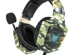 Проводные наушники с микрофоном Onikuma K8 1+2/3.5мм + USB Camouflage Green
