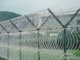 Проволока колючая спиральная Егоза 450мм на 3 скобы