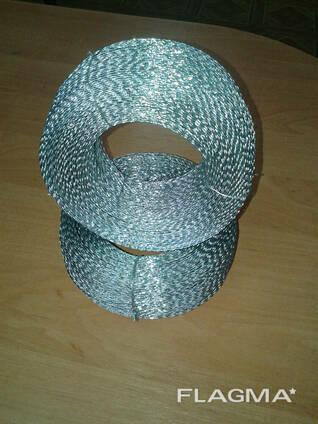 Проволока пломбировочная витая оцинкованная (Двужильная) 0,6м х 0,5мм ( 1кг - 270м)