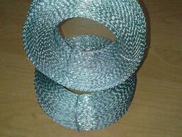 Проволока пломбировочная витая оцинкованная (Двужильная) 0, 6м х 0, 5мм ( 1кг - 270м)