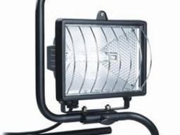 Прожектор ИО500П (переноска) галоген. черный IP54 TDM