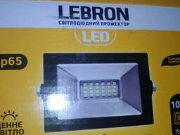 Прожектор LED Lebron LF, 10W, 6500К, 750Лм, кут 120°