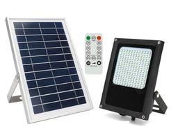 Прожектор светильник фонарь с пультом светодиодный 120LED на солнечной батарее