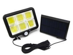 Прожектор светильник солнечная панель, водозащищенный, датчик движения