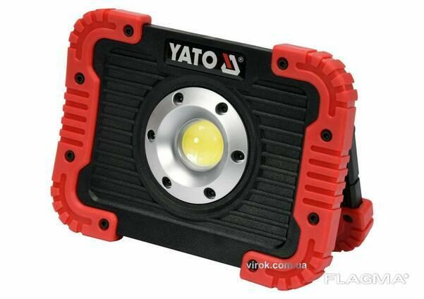 Прожектор світлодіодний акумуляторний YATO Li-Ion 3.7 В 4.4 АГод 10 Вт 800 лм