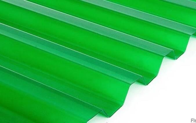 Прозрачный шифер зеленый