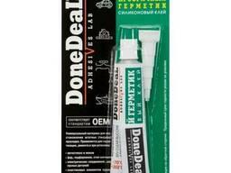 Прозрачный силиконовый герметик-клей для стекол DoneDeal. ..