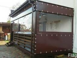 Мягкие окна из ПВХ - защита от ветра, осадков беседок
