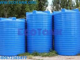 Прямоугольная кубовая пластиковая емкость для воды