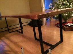 """Прямоугольный стол из дерева """"Trio"""" из массива ясеня в стиле LOFT"""