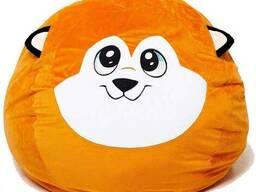 Пуфик собачка из меха диаметр 80 см