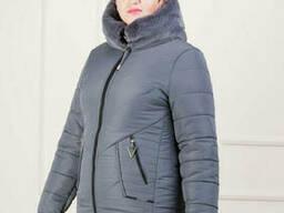 Пуховик зимний женский(48-56) с капюшоном, доставка по. ..
